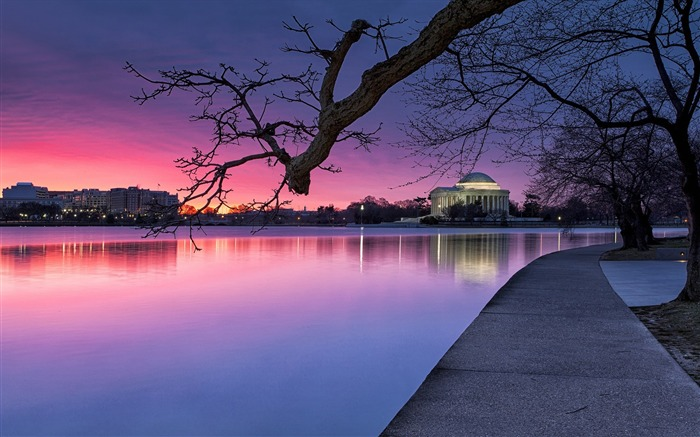 United States dusk-Cities landscape wallpaper Views:3569
