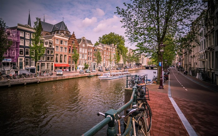 amsterdam channel-Cities landscape wallpapers Views:2351