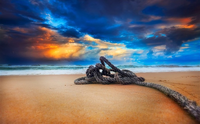 beach rope-Scenery HD Wallpaper Views:5153 Date:5/28/2014 7:45:44 AM