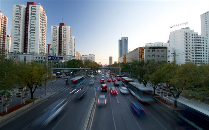 beijing only road-Cities landscape wallpaper Views:3981