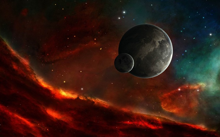 fire in space-Design HD Wallpaper Views:3707