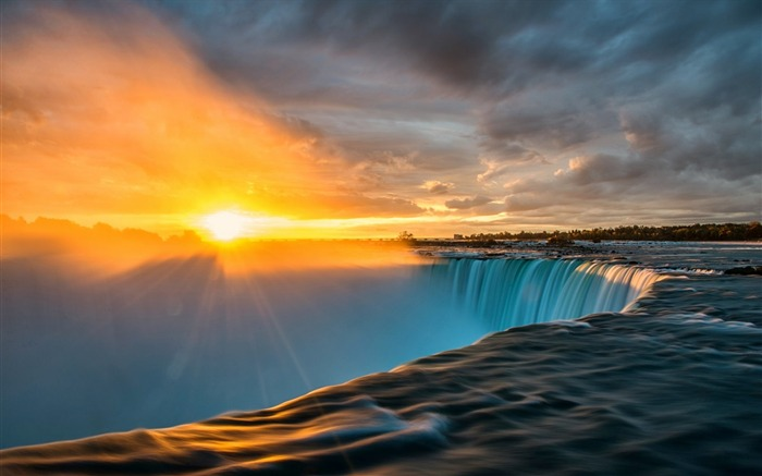 niagara sunrise-Scenery HD Wallpaper Views:6304 Date:5/28/2014 7:51:15 AM