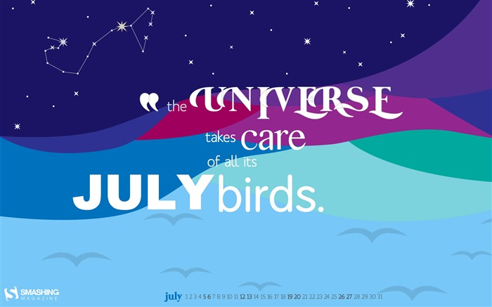 July 2014 calendar desktop themes wallpaper Views:8594