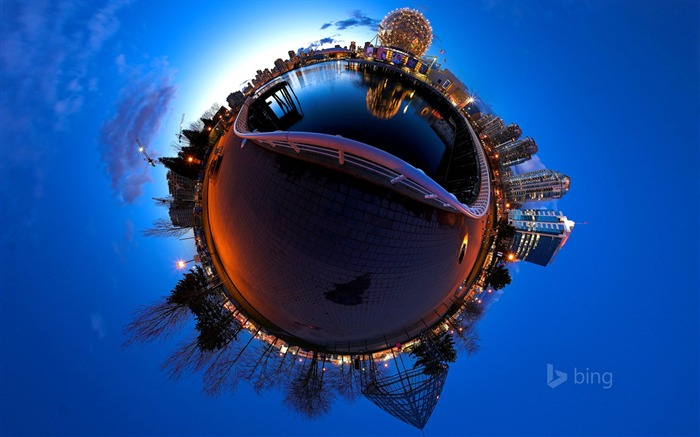 Abstract global village-Bing theme wallpaper Views:2012