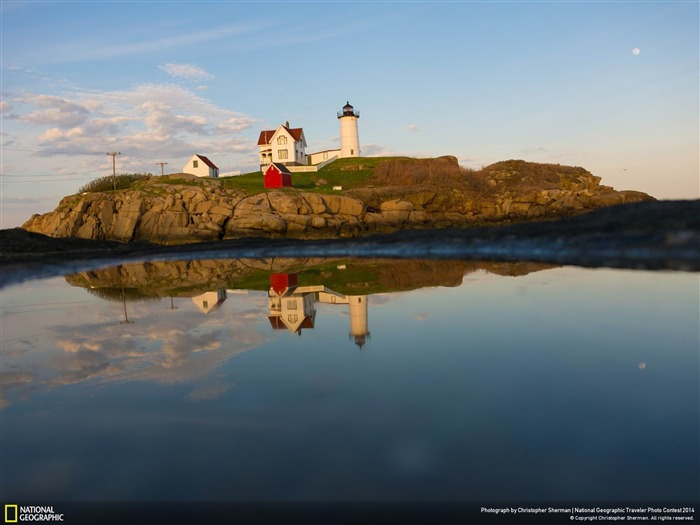 Nubble in a Puddle-National Geographic Wallpaper Views:3061