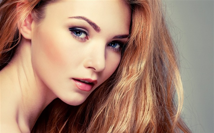 model makeup lovely-photo HD wallpaper Views:2987