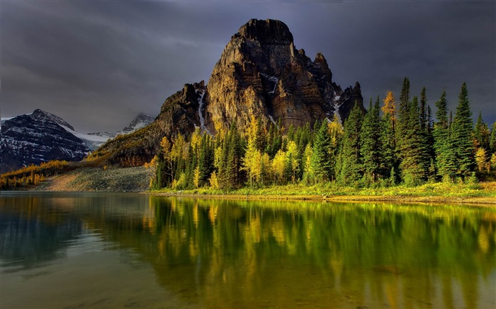 mountains sky lake-Best Landscape Wallpapers Views:4926