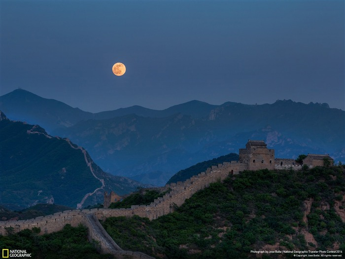 Full moon Great Wall-National Geographic Wallpaper Views:6276 Date:7/22/2014 8:41:09 AM
