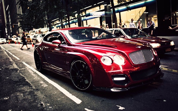 red bentley coupe-HD Photo wallpaper Views:2758