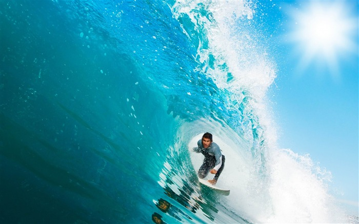 surfing a wave-High quality wallpaper Views:2459