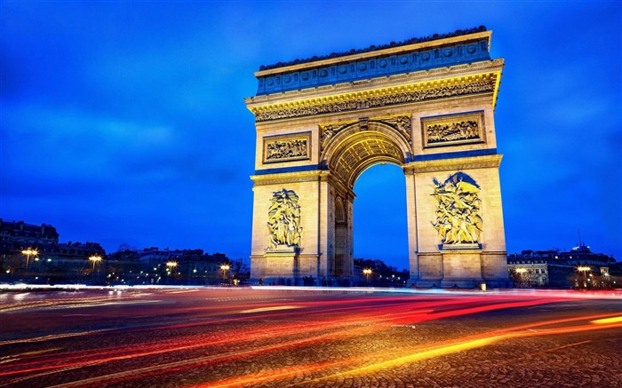 Arc Triomphe At Night-Cities HD Wallpaper Views:3633