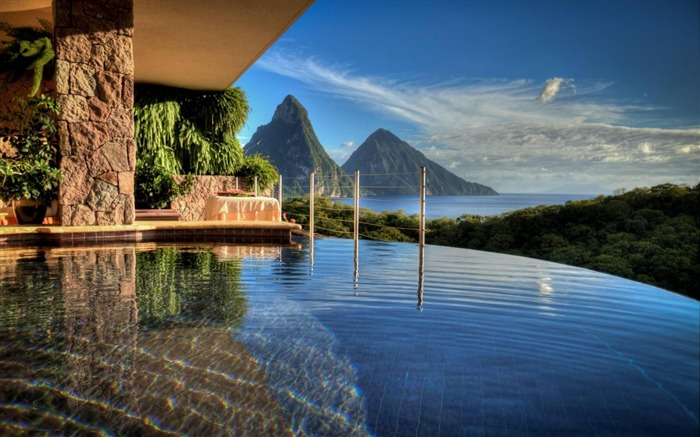 Saint Lucia Resort-Nature HD Wallpaper Views:5569 Date:9/15/2014 7:57:20 AM