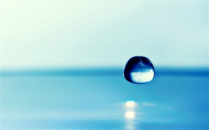 Blue Water Drop-High quality wallpaper Views:2575