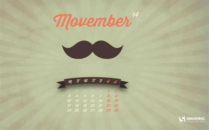 Movember 2k14-November 2014 Calendar Wallpaper Views:4374 Date:10/31/2014 11:09:27 AM