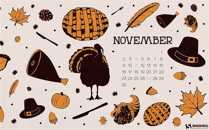 November Ingredients-November 2014 Calendar Wallpaper Views:4970 Date:10/31/2014 11:13:25 AM
