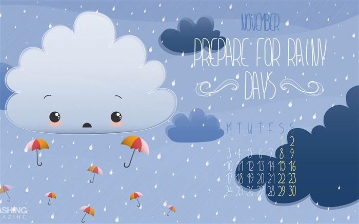 Rainy Days-November 2014 Calendar Wallpaper Views:4231 Date:10/31/2014 11:15:18 AM