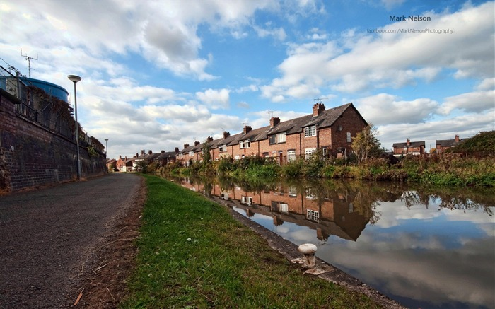 Town house-Lakes landscape photography wallpaper Views:1845