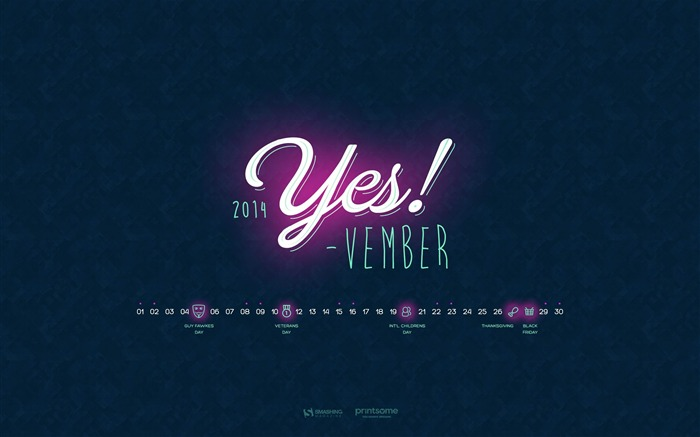 Yesvember-November 2014 Calendar Wallpaper Views:2711 Date:10/31/2014 11:19:51 AM