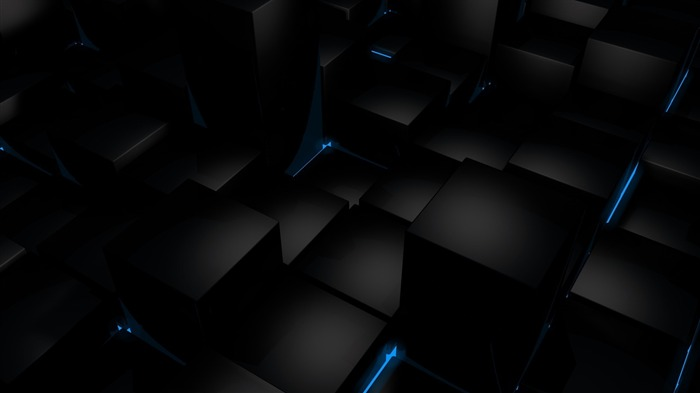 Cool Black 3D-Abstract widescreen wallpaper Views:2991