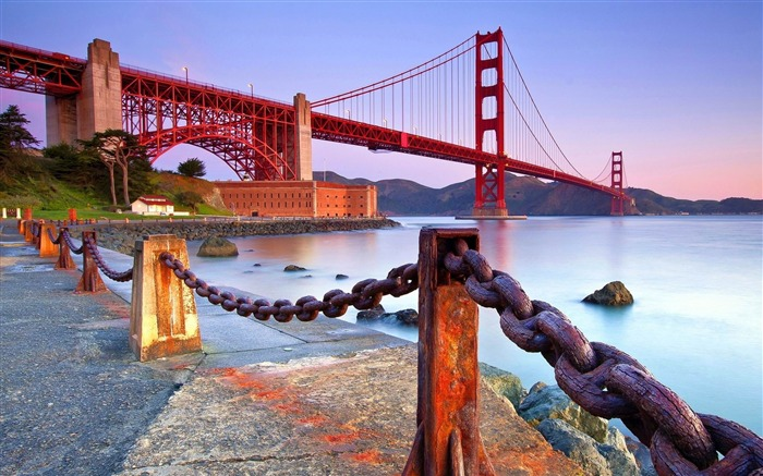 Golden Gate Bridge Coast-Photography HD Wallpapers Views:3130