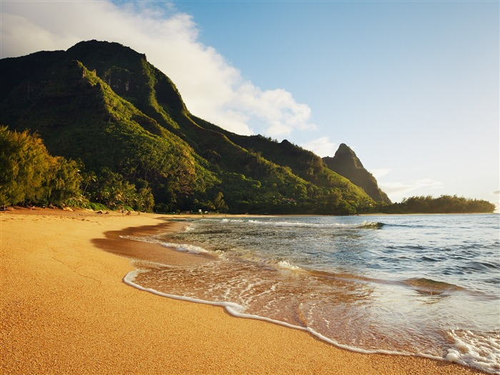 Haena Beach Hawaii-HD Desktop Wallpaper Views:2504