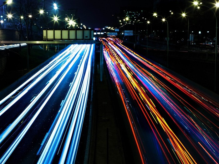 Highway Lights-Photography HD Wallpapers Views:3118
