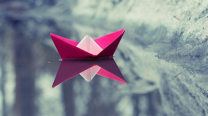 Paper Boat Origami-High quality HD Wallpaper Views:1257
