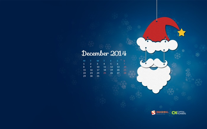 December 2014 Calendar Desktop Themes Wallpaper Views:9692