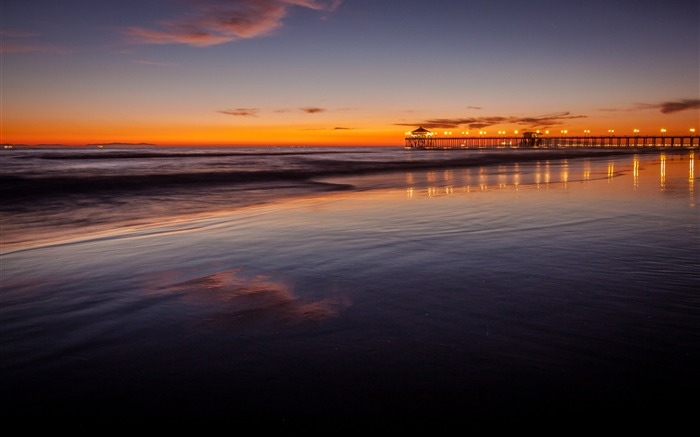 Sunset Beach CA-HD Desktop Wallpaper Views:1639