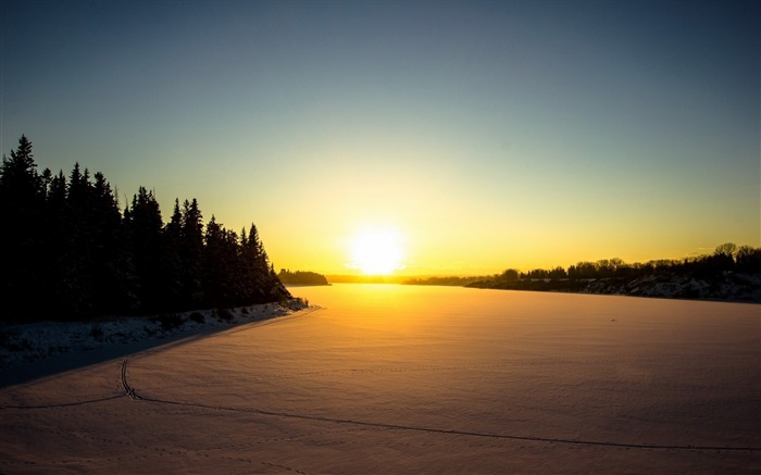 Winter Sunset-HD Desktop Wallpaper Views:1643