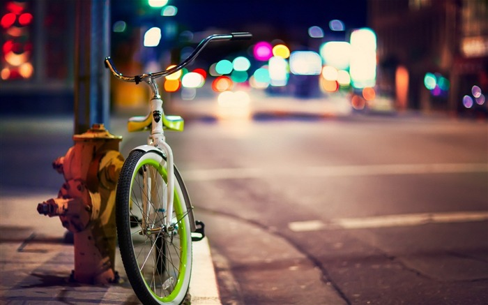 bicycle city street-Photography HD Wallpapers Views:6044