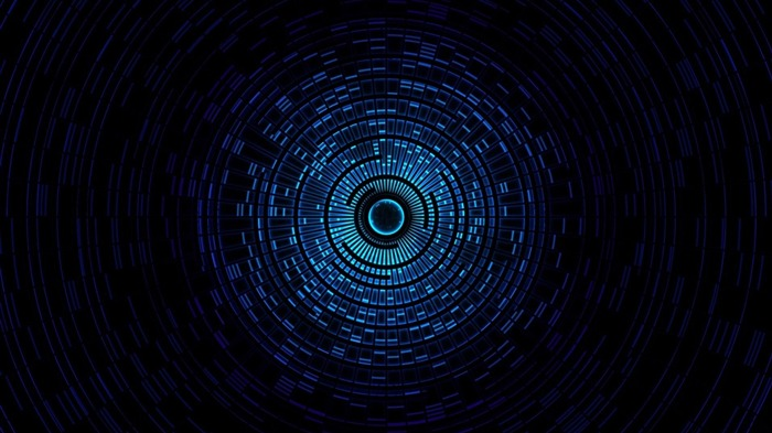 blue light tunnel-Abstract widescreen wallpaper Views:3908