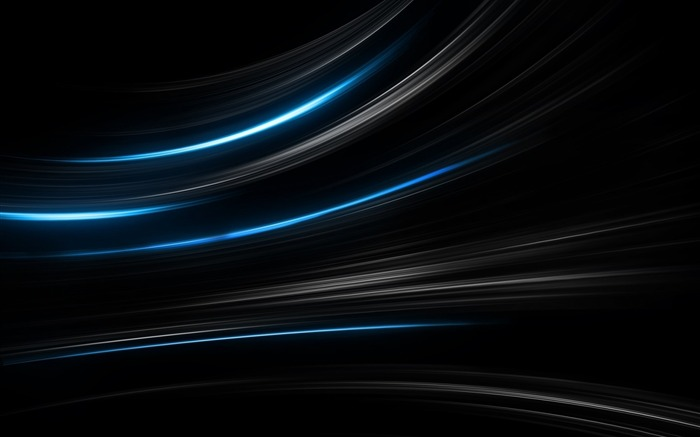 blue lines black-Abstract widescreen wallpaper Views:2301