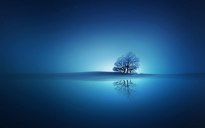 blue reflections-Abstract widescreen wallpaper Views:3253