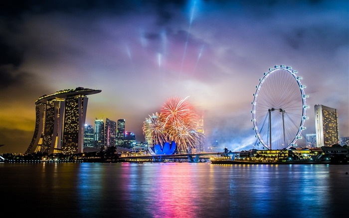 city singapore night-Photography HD Wallpapers Views:3419