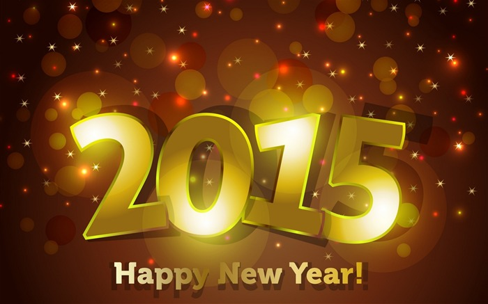 2015 Happy New Year Theme Desktop Wallpaper Views:8453