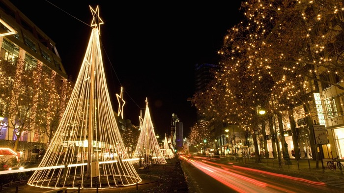 Christmas Night In Germany-Holidays Hd Wallpaper Views:3925