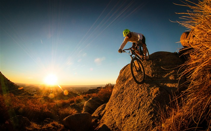 Extreme mountain biking Sports HD Wallpaper Views:10278