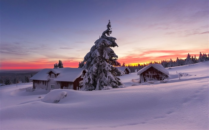 Most beautiful winter landscape HD wallpaper 08 Views:3716