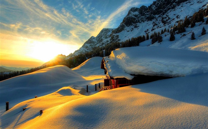 Most beautiful winter landscape HD wallpaper 09 Views:3923