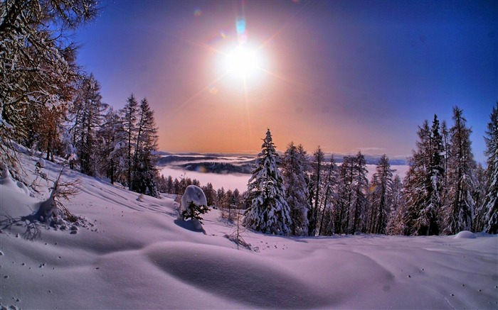 Most beautiful winter landscape HD wallpaper 15 Views:5896