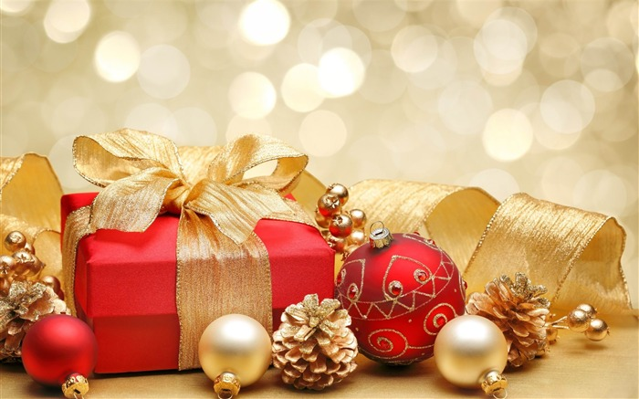 christmas gift box decorations-Holiday desktop wallpaper Views:3842