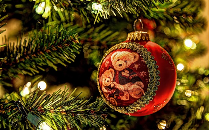 christmas tree decorations-Holiday desktop wallpaper Views:2676