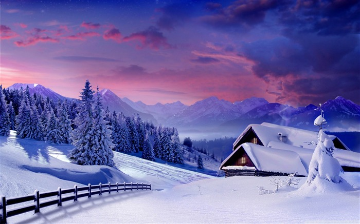 Romantic season Nature scenery wallpaper Views:7821