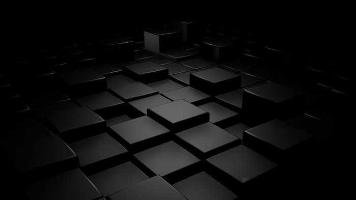 3D Black Square-HD Widescreen Wallpaper Views:22450