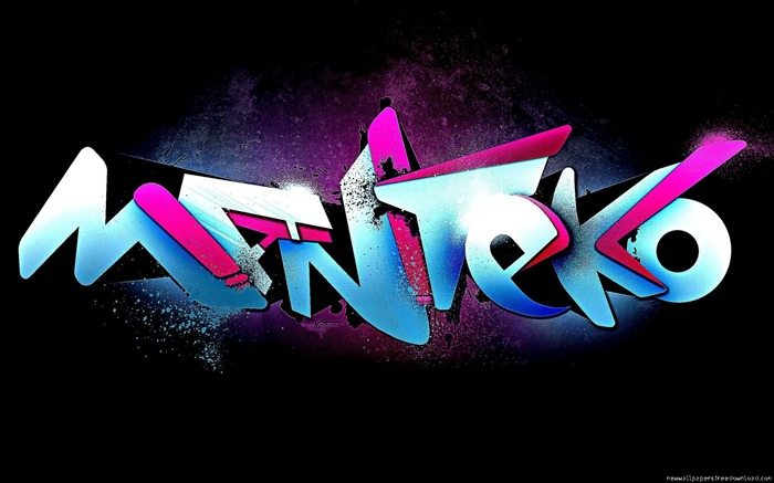 3D Graffiti Art-HD Widescreen Wallpaper Views:3291
