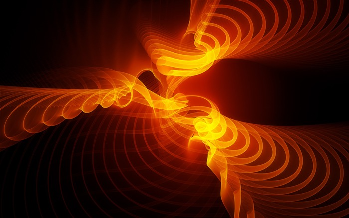 Abstract Orange Light-HD Widescreen Wallpaper Views:2626