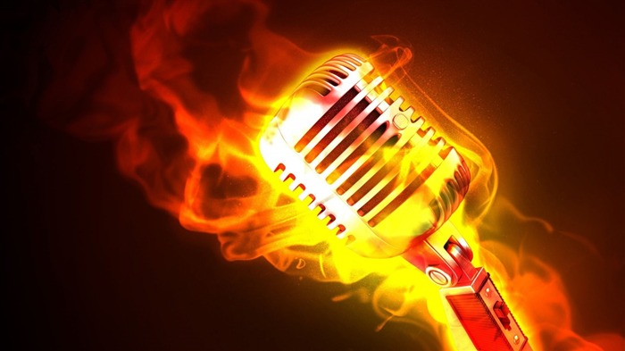 Classic Microphone Fire-HD Widescreen Wallpaper Views:2755