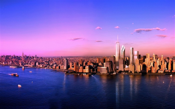 Manhattan At Sunset-Cities HD Wallpaper Views:3138