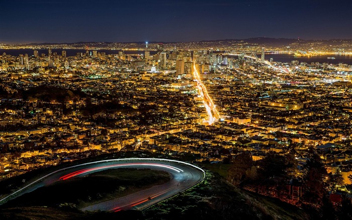 San Francisco Night Skyline-Cities HD Wallpaper Views:2205